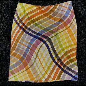 Ellen Tracy Multicolor Straight Skirt 12
